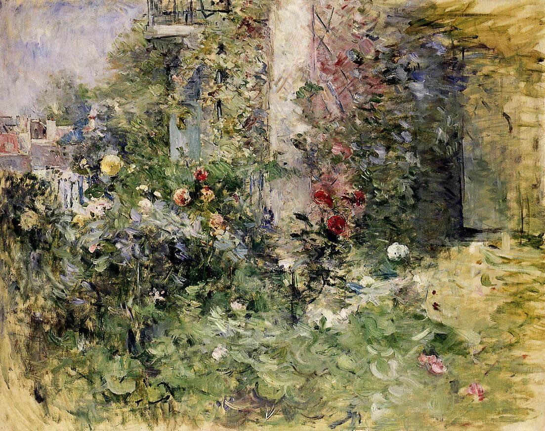 """""""Ogród przy Bougival"""" - Berthe Morisot"""