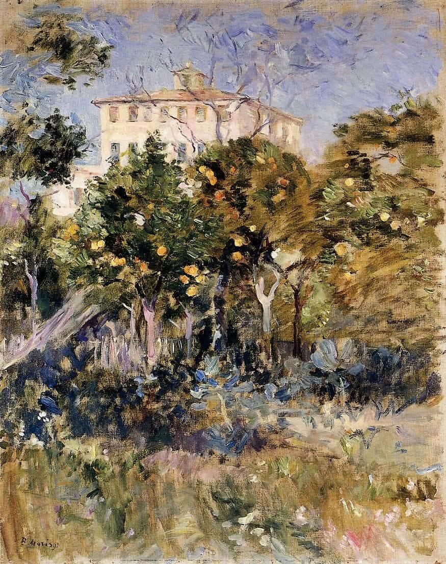 """""""Willa wśród pomarańczy, Nicea"""" - Berthe Morisot"""